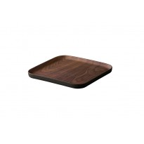ECO-FRIENDLY BAMBOO PLATE RECTANG. WALNUT 30X12CM