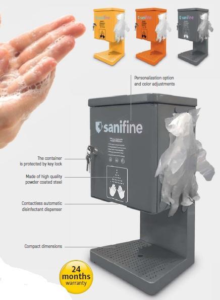 Stolový dávkovač na dezinfekziu  automatický 1L