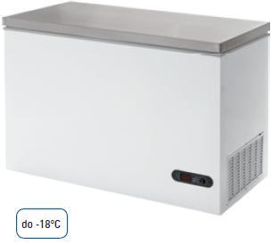Mraziaci box s nerezovým povrchom 390 L