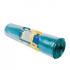 Vrecia na odpadky modré 70L
