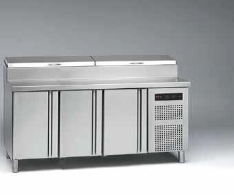 Chladiaci stôl na pizzu kompaktný 700 GN Fagor Concept, 3 x dvere