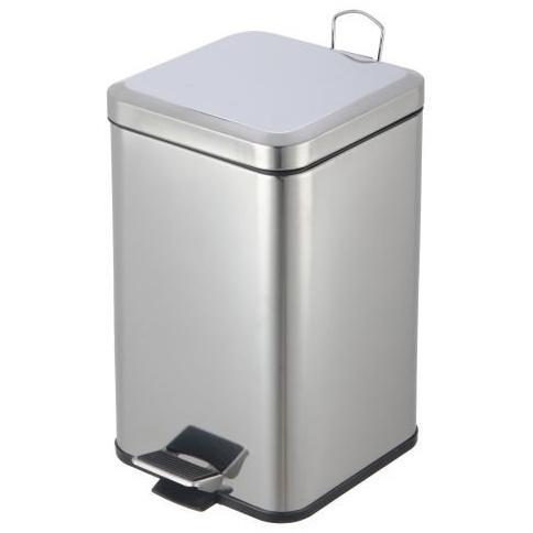 Kôš odpadkový 6 L nerezový hranatý s pedálom